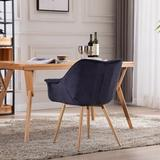 Corrigan Studio® Dining Chairs, Modern Style Upholstered Fabric Chairs Leisure Side Chairs w/ Metal Legs   Wayfair 3B0DE8FB48C54463856497192A0801CE