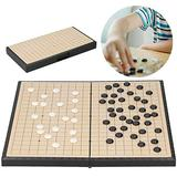 Labuduo Go Game Set, Go Board Game High Hardness Durable Educational Game Toy Board Game for Beginner for Kids for Practicing for Adults for Teaching