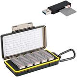 40 Slots Memory Card Case Holder + USB3.0 Memory Card Reader for SD SDHC SDXC Camera Memory Cards Chips