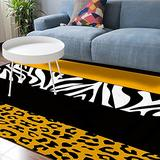 Soft Area Rugs for Bedroom Wild Animal Print Stylish Leopard Zebra Yellow Pattern Washable Rug Carpet Floor Comfy Carpet Kids Play Mats Runner Rug for Floor Accent Home Decor-