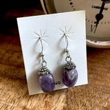 Urban Outfitters Jewelry   Sale Sterling Silver Amethyst Earrings   Color: Purple/Silver   Size: Os