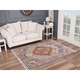 Luxe Weavers Otika Collection Red 5x7 Abstract Area Rug - 8680 Red 5x7