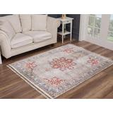 Luxe Weavers Otika Collection 8693 Taupe 8x10 Oriental Area Rug - 8693 Taupe 8x10