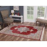Luxe Weavers Otika Collection 8693 Red 5x7 Oriental Area Rug - 8693 Red 5x7