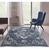 Luxe Weavers Taba Collection Blue 5x7 Abstract Area Rug - 7050 Blue 5x7
