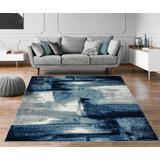 Luxe Weavers Lagos Collection 7558 Navy 6x9 Abstract Area Rug - 7558 Navy 6x9