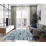 Luxe Weavers Towerhill Collection Blue 5x7 Abstract Area Rug - 7622 Blue 5x7