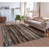 Luxe Weavers Lagos Collection 627 Multi 8x10 Striped Area Rug - 627 Multi 8x10
