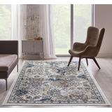 Luxe Weavers Taba Collection Ivory 5x7 Abstract Area Rug - 7085 Ivory 5x7