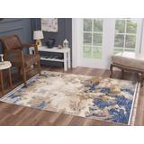 Luxe Weavers Otika Collection Blue 8x10 Abstract Area Rug - 8684 Blue 8x10