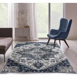 Luxe Weavers Taba Collection Ivory 5x7 Abstract Area Rug - 7052 Ivory 5x7