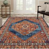 Luxe Weavers Howell Collection Red Oriental 5x7 Area Rug - 2655 Red 5x7