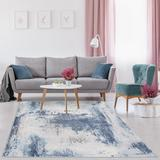 Luxe Weavers Kingsbury Collection Blue 9x12 Abstract Area Rug - 7773 Blue 9x12