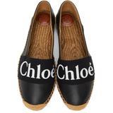 Leather Woody Espadrilles - Black - Chloé Flats