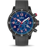 Chronorally S Chronograph Quartz Blue Dial Watch 37nrca Brb - Blue - Edox Watches