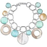 Sterling Silver Wonderland Chain Link Bracelet With Mother Of Pearl And Stone Drops - Metallic - Ippolita Bracelets