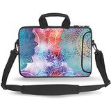 HEABPY Messenger Bag Carrying Case Sleeve with Handle Accessory Pocket Fits Laptops/Notebook/ebooks/Kids Tablet/ipad (Beautiful Mandala, 14-15.6 inch)