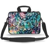 HEABPY Messenger Bag Carrying Case Sleeve with Handle Accessory Pocket Fits Laptops/Notebook/ebooks/Kids Tablet/ipad (Mandala, 14-15.6 inch)