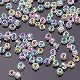 500Pcs Mixed Glass Bugles Tube Beads Charm Czech Beads DIY Bracelet Necklace for Jewelry Making Earring,712 Beads 4.0mm,10g per lot
