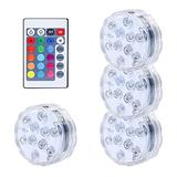 Pool Light,Submersible LED Lights,Remote Control IP68 Waterproof Swimming Pool/Pond Lights Multi Color Changing Battery Operated for Pool Party Vase Pond Fountain (4 Pcs)