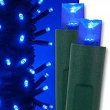 "Kringle Traditions Blue Christmas Mini String Light Set, 50 LED Lights, 25 ft Indoor/Outdoor Blue Christmas Lights Decorations Blue LED Christmas Lights Outdoor Christmas String Lights, 6"" Spacing"