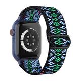 Nayu Replacement Bands Black&Green - Black & Green Geometric Nylon Band Replacement for Apple Watch