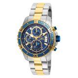 Invicta Men's Watches - Dark Blue & Two-Tone Pro Diver Bracelet Watch