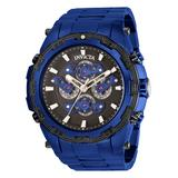 Invicta Men's Watches - Black & Blue Specialty Multifunction Chronograph Watch
