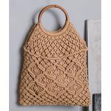 Ella & Elly Women's Handbags Ivory - Ivory Woven Tote