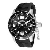 Invicta Men's Watches - Black & Stainless Steel Rubber Strap Watch