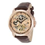 Invicta Men's Watches - Brown & Rose Goldtone Objet d'Art Openwork Leather-Strap Watch