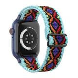Nayu Replacement Bands Sky - Sky Blue & Purple Geometric Nylon Band Replacement for Apple Watch