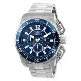 Invicta Men's Watches - Silvertone & Blue Pro Diver Chronograph Watch