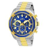 Invicta Men's Watches - Blue & Two-Tone Aviator Chronograph Watch