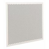 AMERICAN LOUVER STR-PERF-2238-5PK Square Perforated Ceiling Tile Diffuser, White