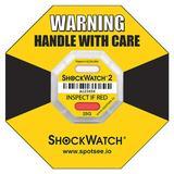 SHOCKWATCH 48000K G-Force Indicator Label,25G,PK50