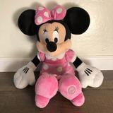 Disney Other | Disney Minnie Mouse Plush Toy | Color: Black/Pink | Size: Os