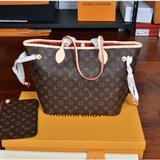 Louis Vuitton Bags   Lv Neverfull Mm Brown Tote Handbag Shoulder Bag   Color: Brown   Size: Os