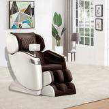 KUUFER Neck Massage Chair & Back Massager, Full Body Zero Gravity Shiatsu Recliner,Shiatsu & Rolling Massage For Full Body Muscle Pain Relief Brown