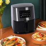 LINMOUA 6 Liter Large Air Fryer Oven Stainless Steel in Black/Gray, Size 137.7 H x 129.0 W x 118.0 D in | Wayfair I88GZJ200724201_0