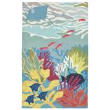 """Liora Manne Ravella Ocean View Indoor/Outdoor Rug Blue 7'6""""x9'6"""" - Trans Ocean RVL71227503"""