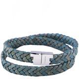 Jargon Jade Leather Double Wrap Bracelet - Green - Tissuville Bracelets