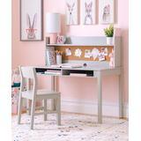 Martha Stewart Sideboard & Hutch Gray - Gray Living & Learning Hutch Desk Set