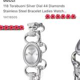 Gucci Accessories | Gucci Women'S Diamond Bracelet Style Watch | Color: Silver | Size: Os