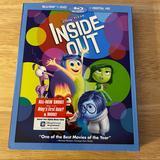 Disney Other | Inside Out Blu-Ray, Dvd, 2015, 3-Disc Pixar Disney | Color: black | Size: Blu-Ray & Dvd