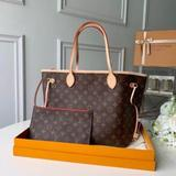 Louis Vuitton Bags   Lv Neverfull Mm Brown Tote Handbag Shoulder Bag   Color: Brown/Red   Size: Os