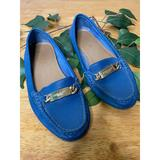 Coach Shoes | Coach Leather Driving Shoes Loafers Style A7751 | Color: Blue | Size: 6.5