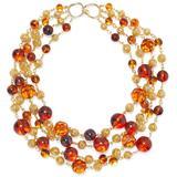 24-karat -plated, Bead And Stone Necklace - Metallic - Ben-Amun Necklaces