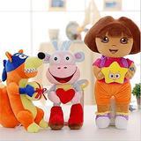 3pcs Love Adventure Of Dora Monkey Boots Swiper Plush Doll Toy Dora Monkey Stuffed Soft Tv Movies Plush Toy For Kids
