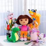5pcs Dlot Love Adventure Of Dora Monkey Boots Swiper Plush Doll Toy Dora Monkey Stuffed Soft Tv Movies Plush Toy For Kids